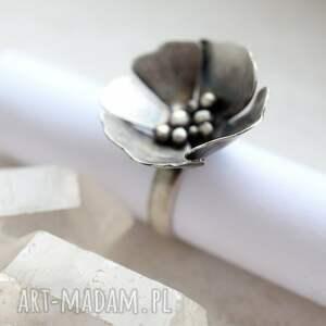 unikatowe pierścionki pierścień kwiat