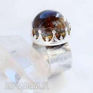 ciekawe kwarc ogrodowy pierścień z kwarcem