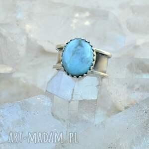 eleganckie larimar pierścień z larimarem