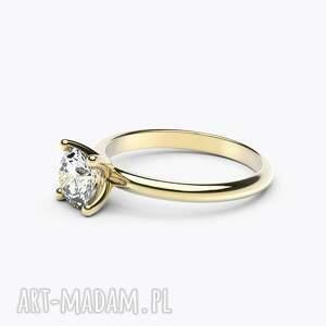 zaręczynowy pierścionki pierścionek classy żółte złoto