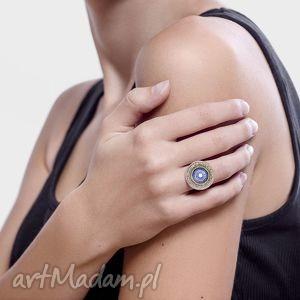 fioletowe pierścionki mandala pierścionek love