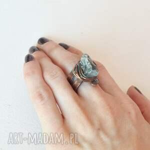 złote pierścień pierścionek z patynowanej