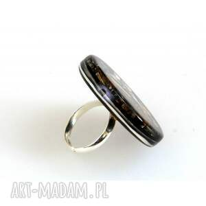 czarne pierścionki piersionki pierścionek round i - czarny