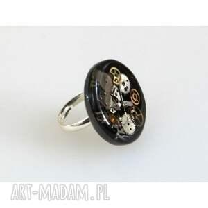 pierścionki piersionki pierścionek round i - czarny