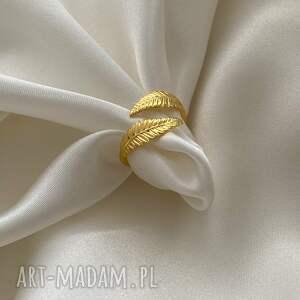 ręcznie wykonane pierścionki pierścionek z liśćmi laurowymi