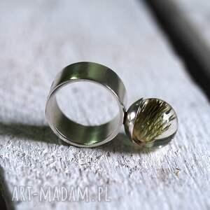 wyjątkowe pierścionki żywica pierścionek z naturalnym ostem