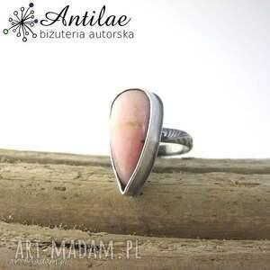 opal pierścionki pierścionek z różowym opalem