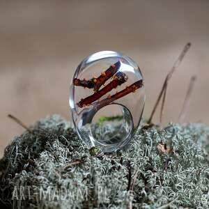 żywica pierścionki pierścionek z żywicyz naturalnymi