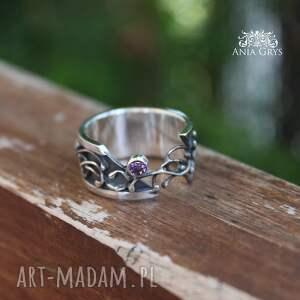ażurowy pierścionki półotwarty z cyrkonią