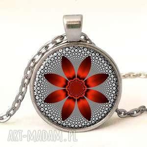 hand made pierścionki czerwony kwiat - pierścionek