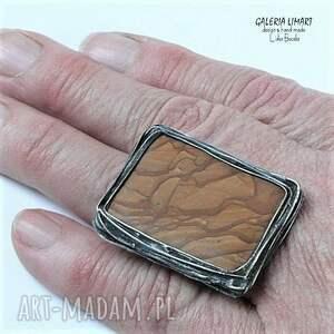 wyjątkowe prezent pierścień.jaspis drzewny