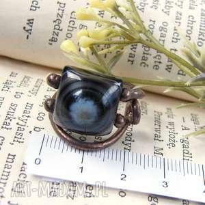 regulowany pierścień szare pierścionek z