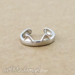 nietypowe pierścionki kot regulowany pierścionek - kocie uszy