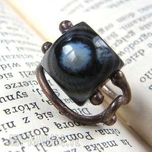wyraziste pierścień miedziany regulowany pierścionek z