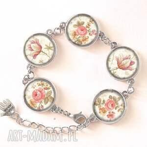handmade pierścionki vintage retro róże - pierścionek regulowany