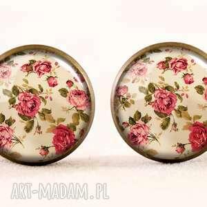 retro pierścionki róże - pierścionek regulowany
