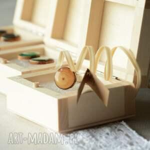 My Piece of Wood malowany rezerwacja dla pani ani. pierścionek wykonany