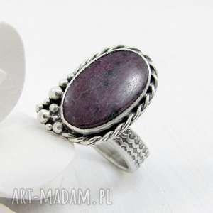 pierścionki romantyczny rubinowa pianka