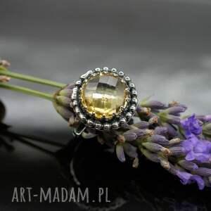 Sari - srebrny pierścionek z cytrynem - srebro cytryn