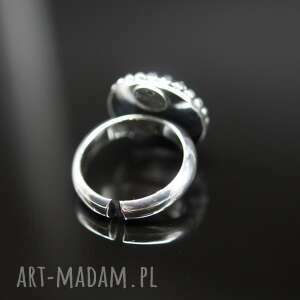 żółte pierścionki pierścionek sari - srebrny