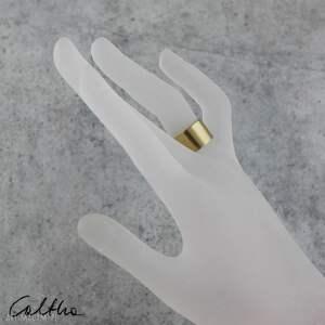 pierścień satyna - mosiężny pierścionek