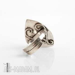 modne lapis scilla - srebrny pierścionek