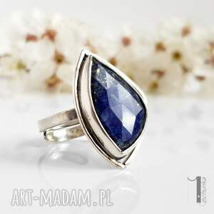 modne pierścionek scilla - srebrny
