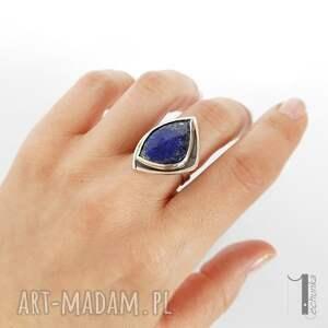 lapis scilla - srebrny pierścionek