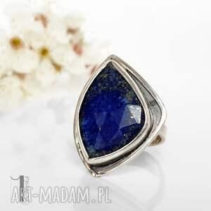 pierścionek niebieskie scilla - srebrny