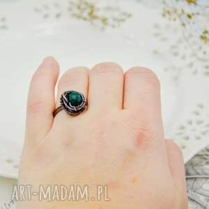 pierścionek z-miedzi niebieskie sea side