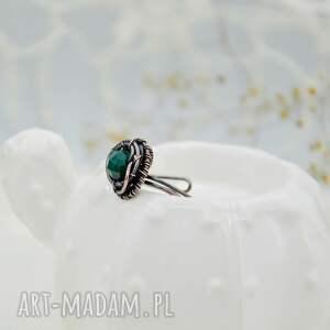 zielone pierścionek retro sea side