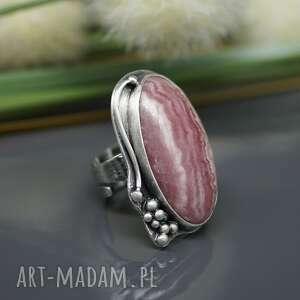 BranickaArt intrygujące pierścionek skromny rodochrozyt