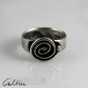 trendy pierścionki pierścień ślimak - srebrny pierścionek rozm