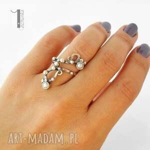 pierścionki srebro sorbus i z perłą srebrny