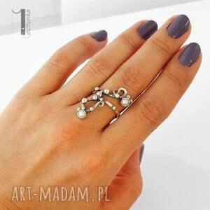 srebro pierścionki sorbus i z perłą srebrny