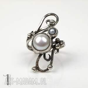 pierścionki perła-hodowlana sorbus iii - srebrny pierścionek