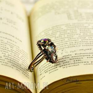 brązowe pierścionki miedź sparks - pierścionek