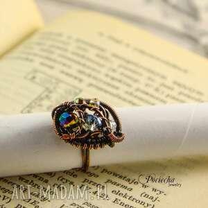 pierścionek pierścionki fioletowe sparks -