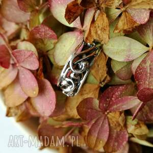 gustowne pierścionki srebro srebrna koronka