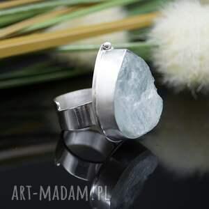 niebieskie pierścionek srebrny kropla lodu