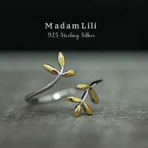 trendy pierścionki pierścionek 925 srebrny pierscionek liść