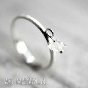 handmade pierścionki diement 925 srebrny pierścionek mini