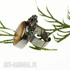 szare pierścionki pierścionek-dla-niej srebrny pierścionek z okwieconym