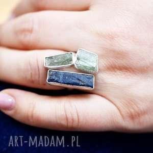 unikatowe pierścionki kamień 925 srebrny pierścionek kyanit &