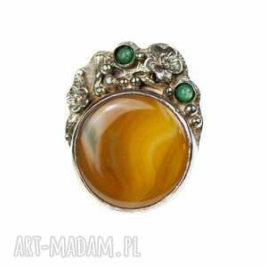 pierścionki kwiatowy-pierscionek srebrny pierścionek z okwieconym