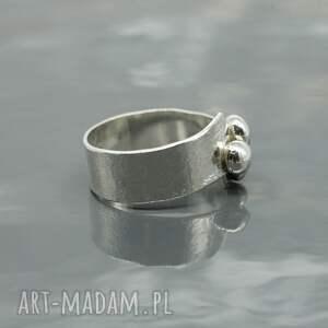 srebro pierścionki srebrny pierścionek - buttons