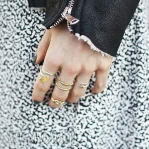 liść pierścionki 925 srebrny pierscionek