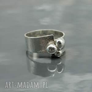 pierścionki srebro srebrny pierścionek - buttons