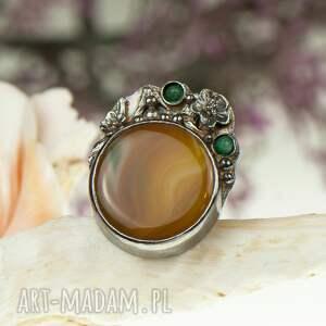 pierścionki pierścionek-srebrny srebrny pierścionek z okwieconym