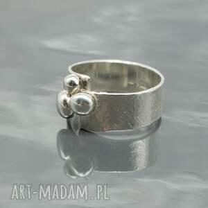 niekonwencjonalne pierścionki pierścionek srebrny - buttons